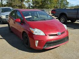 2012 toyota prius in water flood damage 2012 toyota prius hatchbac 1 8l 4 for sale in