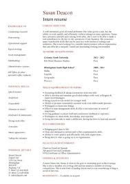 Resume Jobs by Cv Template No Work Experience Resume For College Student With No