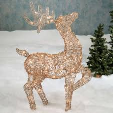 lovely idea outdoor deer decorations lighted wooden