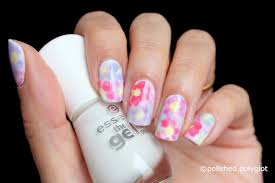 nail art floral watercolor nail design nail crazies united