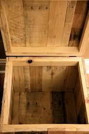 reclaimed pallet wood storage ottoman natural handmade