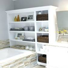 Towel Storage In Small Bathroom Bathroom Shelving Ideas Bathroom Shelving Ideas Light Brown Maple