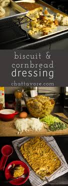southern dressing with biscuits and cornbread chattavore