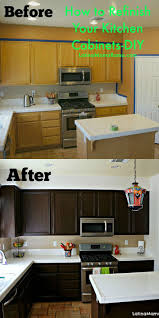 Kitchen Cabinet Refacing Ideas Pictures by Best 25 Refinished Kitchen Cabinets Ideas On Pinterest Painting