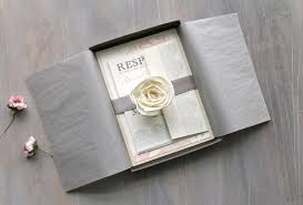 boxed wedding invitations blush and gray boxed wedding invitations lace boxed