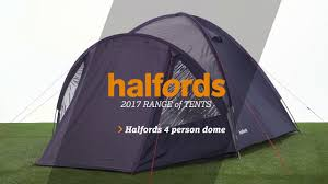 halfords 4 person double skin tent youtube