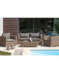 canape de jardin en resine tressee pas cher salon de jardin pas cher mobilier de jardin déco fr