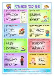 344 free esl verb to be worksheets