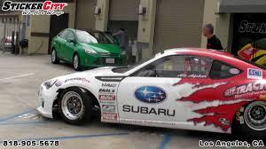 subaru wrx decal esx subaru brz race car wrap by sticker city youtube
