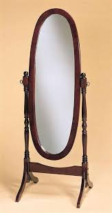 Bevelled Floor Mirror by Standing Light Up Mirror Floor Standing Mirror In Wood Frame