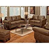 Burgundy Leather Sofa Amazon Com 3pc Princeton Tri Tone Burgundy Leather Sofa Loveseat