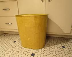 Yellow Wastebasket Bathroom Trash Can Stunning Design Bathroom Waste Basket 13