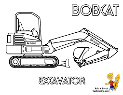 digger coloring pages caterpillar excavator coloring page free