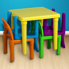 plastic play table and chairs children and kids table chairs set includes scenic plastic chair for