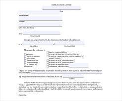 6 job resignation letter templates free pdf word format