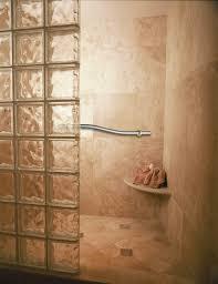 interior rustic in shower ideas exquisite walk glass block wall