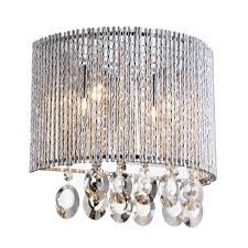 Crystal Wall Sconce by Crystalline Round 2 Light Crystals Wall Sconce Bromi Design