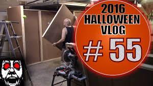 build a haunted house maze 1 diy halloween vlog 2016 55 wall