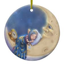 sleeping baby on the moon ornaments keepsake ornaments zazzle