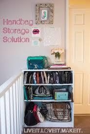 live it love it make it make it handbag storage solution