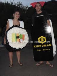 Halloween Sushi Costume Coolest Homemade Sushi Soy Couple Costume Soy Sauce Diy