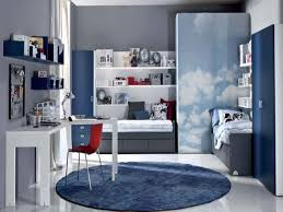 teen bedroom ideas boys and white wooden wall shelves on light for
