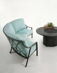 Stratford Patio Furniture Mallin Stratford Cushion Left Arm Club Chair Sectional Piece