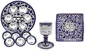passover seder set armenian ceramic passover seder set with 10 pieces plate