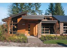 shed style architecture contemporary modern house plan nature theme square plans shed roof