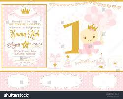 pink gold princess party decor cute stock vector 650402479