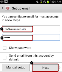 setting up email on android setting up email on an android ywd help
