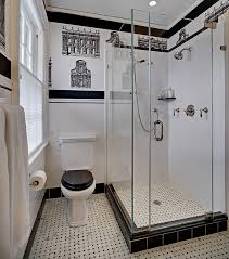 Black And White Bathroom Designs Homey Small White Bathroom Design Ideas And Black Lined