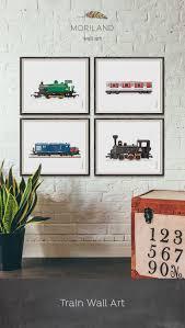 Transportation Nursery Decor Steam Locomotive Print Printable Nursery Print