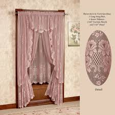 cameo rose victorian rose lace window treatment
