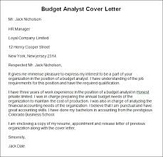 budget analyst cover letter budget analyst cover letter sample