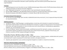 exle of teaching resume professional resume sle for musician resumeusic