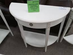 small half moon console table with drawer console table modern white wooden half moon console table and