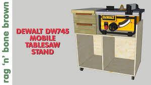 dewalt table saw folding stand mobile tablesaw stand for dewalt dw745 part 1 of 2 workshop re