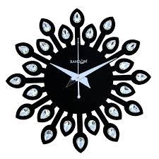 designer wall clocks online india buy random clocks jewel leaf round wood wall clock 30 cm x 30 cm