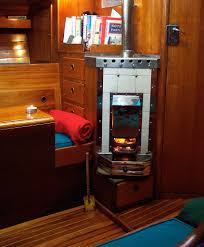 solid fuel boat heater
