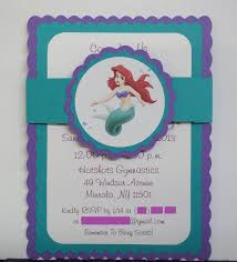 little mermaid birthday invitations cloveranddot com