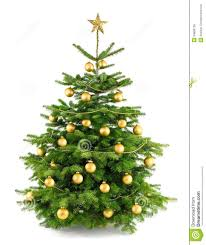lush tree with gold ornaments stock photo image 34686728