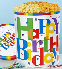 popcorn baskets the popcorn factory big birthday popcorn tin