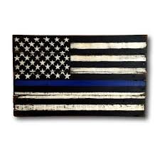 thin blue line flag wood flag thin blue line police flag
