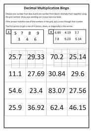 multiplying decimals bingo by fionajones88 teaching resources tes