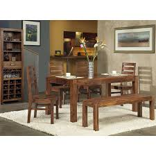 Dining Room Table Set With Bench Modus Genus 6 Piece Dining Table Set With Bench Walmart Com