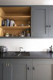 grey kitchen cupboards with black worktop kitchens sustainable kitchens trendy kitchen tile