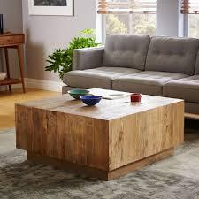 wood plank coffee table plank coffee table west elm
