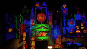halloween projections on it u0027s a small world for 2016 disneyland