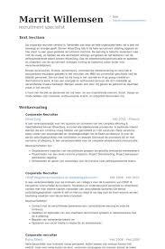 corporate resume exles corporate recruiter resume sles visualcv resume sles database